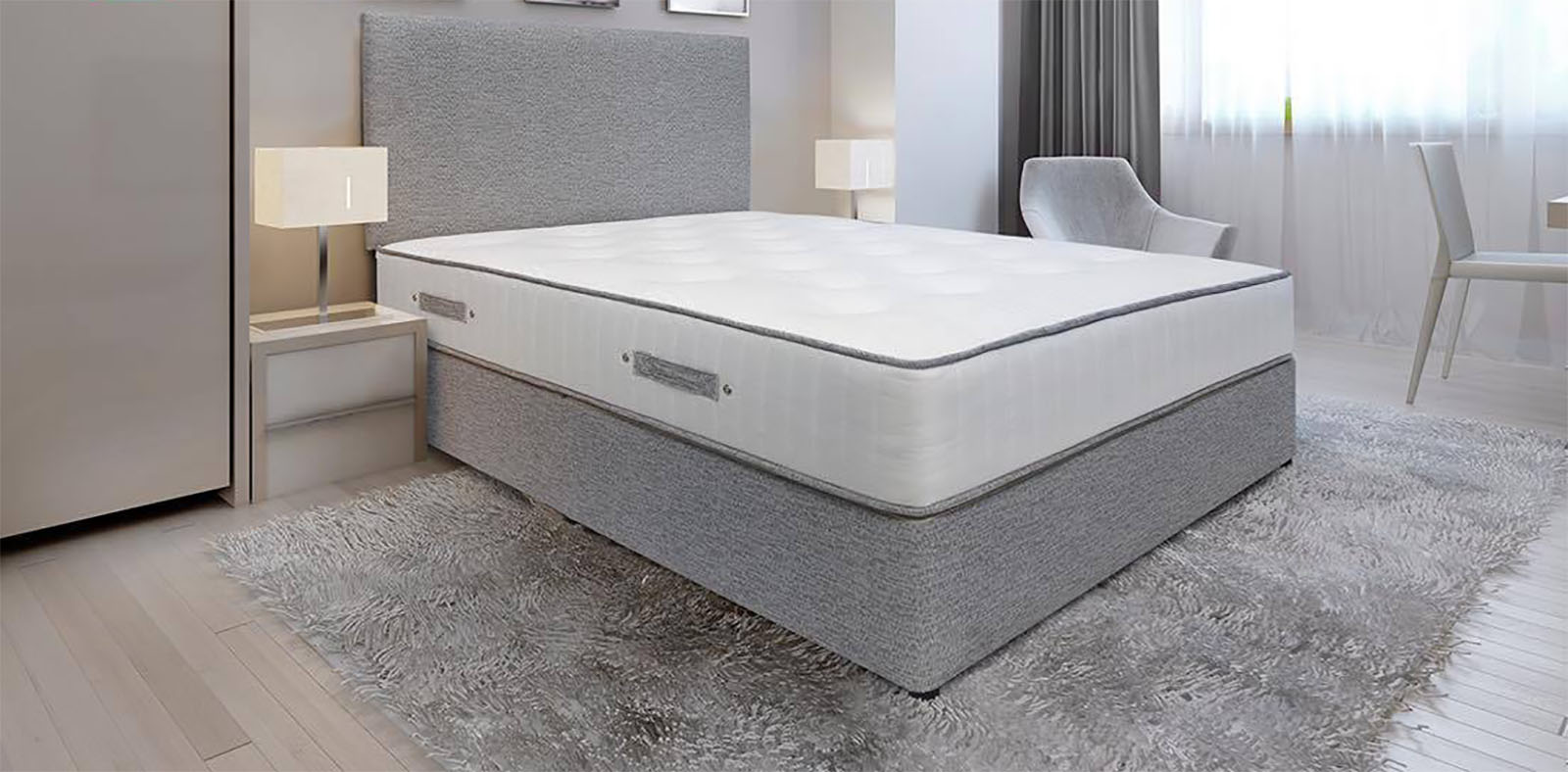 Evo divan set base matress headboard